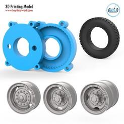 01.jpg Télécharger fichier STL Moule pour pneus de camion à 3 roues • Design à imprimer en 3D, LaythJawad