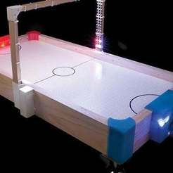 Download free 3D printing models Slap Shot - UPDATED - Air Hockey Table with Automatic Scoring, DIYODE
