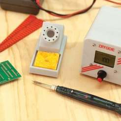 Download free 3D printing designs USB Soldering Station with Adjustable Power, DIYODE