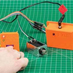 Download free 3D printer templates Arduino-based Fingerprint Lock, DIYODE