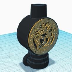 1.jpg Download STL file Shisha Versace Mouthpiece • 3D printable design, mariomance8