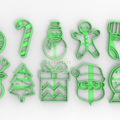 navidad.jpg Download STL file Christmas Cookie Cutter Kit • 3D printing design, Romanlsola