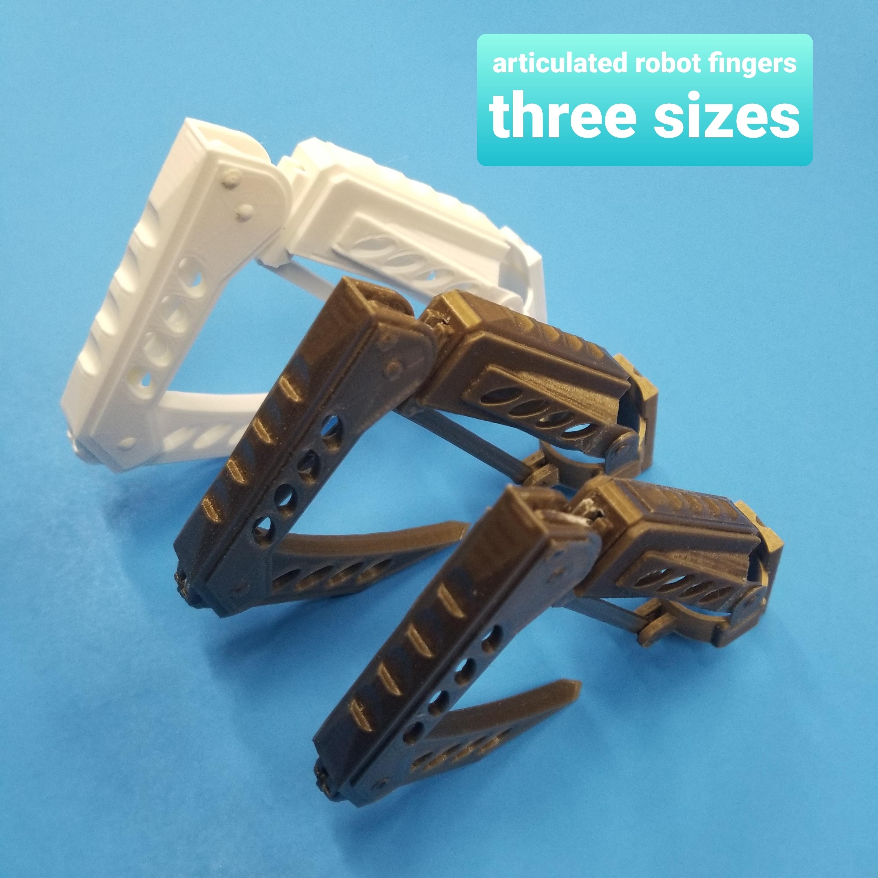 20200329_183550.jpg Télécharger fichier STL Doigts et pouces de robot et MISE À JOUR avec parties de doigts plus longues 3 tailles • Design à imprimer en 3D, LittleTup