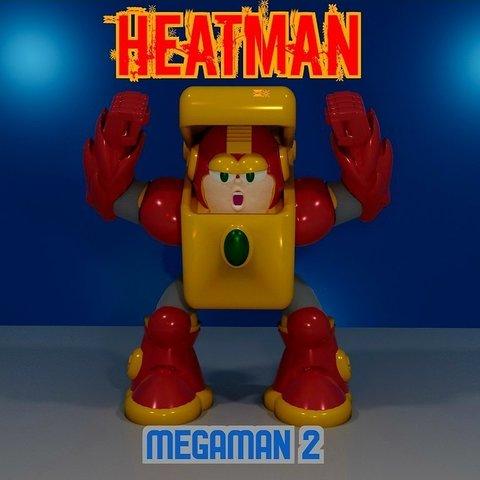 Impresiones 3D gratis HEAT MAN de MEGAMAN2, LittleTup