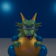 Download free 3D printing files Boss Dragon from MEGAMAN 2, LittleTup