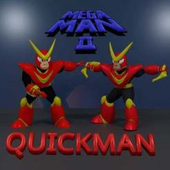 0dc7a5b8e4b18c4b9192e193b51ec412_display_large.jpg Download free STL file QuickMan MEGAMAN2 • 3D printing object, LittleTup