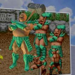 Download free OBJ file Bald guy from Golden axe. • 3D printer model, LittleTup
