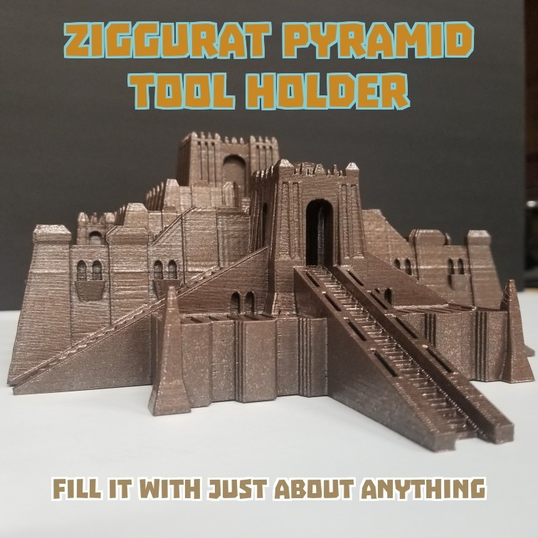 zig[1].jpg Download free STL file Ziggurat Pyramid Tool and SD Card Holder • Object to 3D print, LittleTup