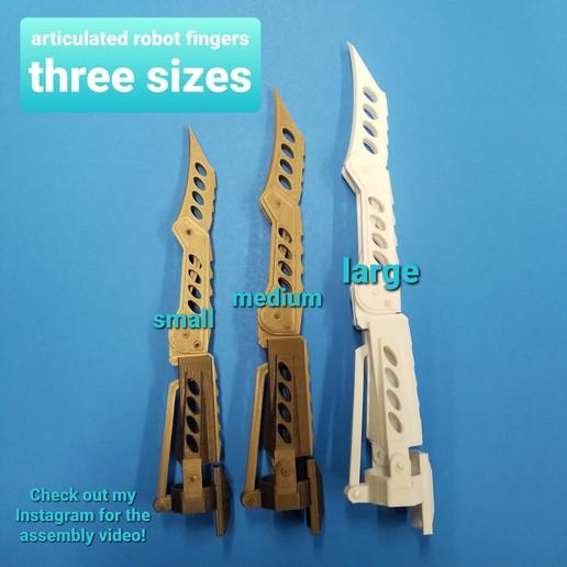 20200329_184300.jpg Télécharger fichier STL Doigts et pouces de robot et MISE À JOUR avec parties de doigts plus longues 3 tailles • Design à imprimer en 3D, LittleTup