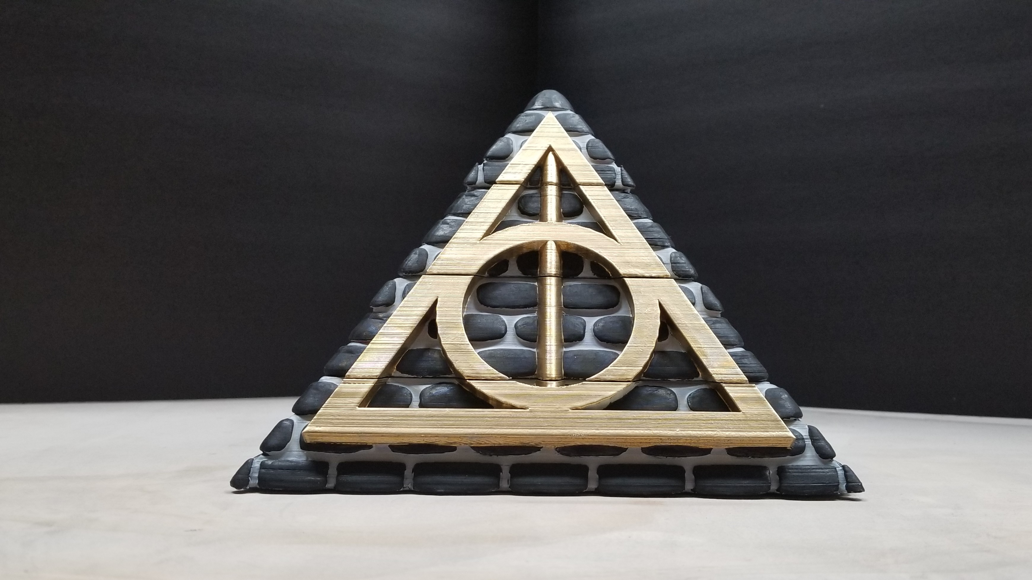 good.jpg Download free STL file POTTER PYRAMID BOX with a Chamber of secrets • Template to 3D print, LittleTup