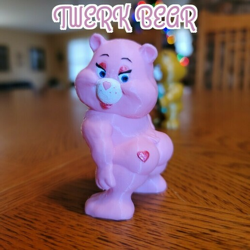 twerk bear.jpg Download STL file No Care Bear Collection #2 • 3D print object, LittleTup