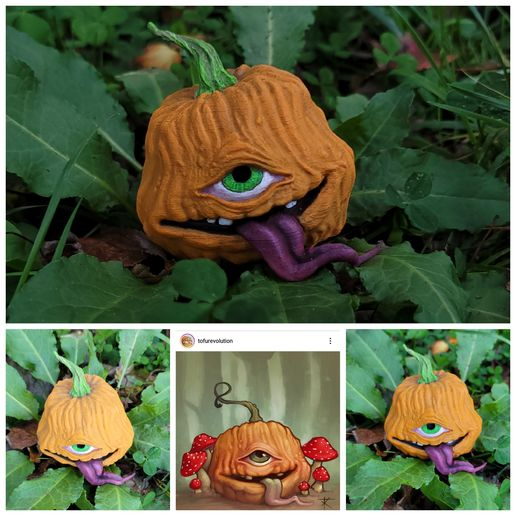 20201004_152037.jpg Download free STL file TofuRevolution's One-eyed pumpkin  • 3D printable template, LittleTup