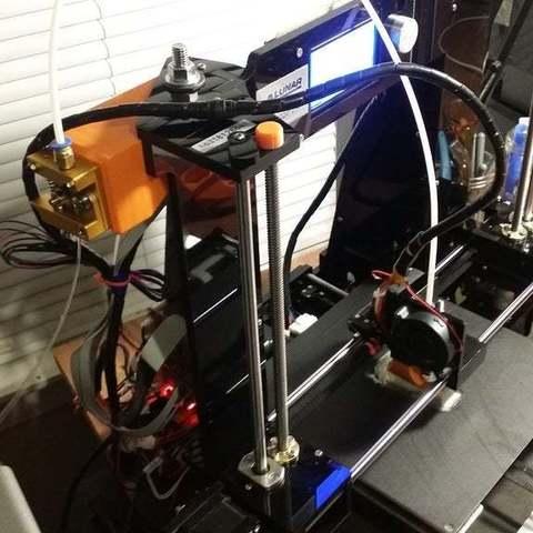 Download free 3D print files ANET A6 bowden bracket EZ setup, LittleTup