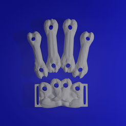 sq12.png Download free STL file Bone Finger Back and Wrist Plate Update.  • 3D printing design, LittleTup