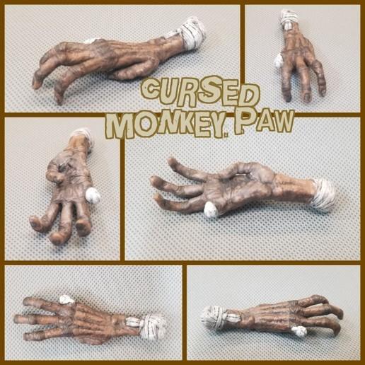 """Télécharger fichier STL gratuit Collier à breloques """"Patte de singe maudite • Design à imprimer en 3D, LittleTup"""