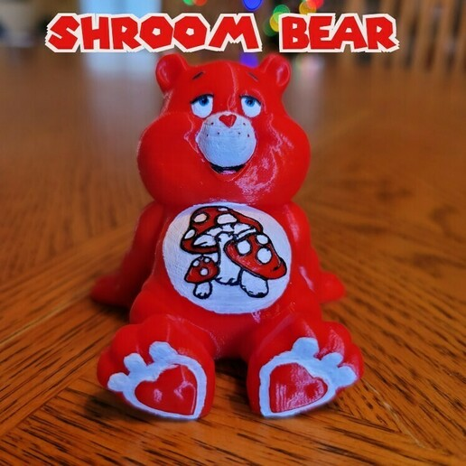 shroom Bear .jpg Download STL file No Care Bear Collection #2 • 3D print object, LittleTup