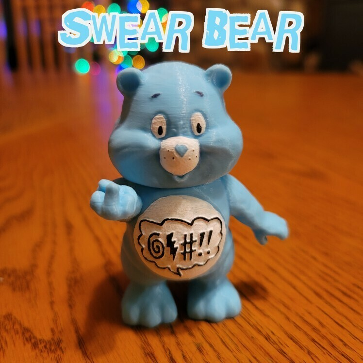 swear.jpg Download STL file No Care Bear Collection • 3D printable object, LittleTup