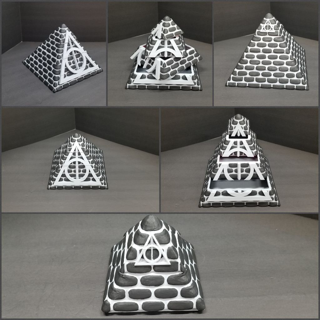 2586de32e7083fba163104d2d974a51d_display_large.jpg Download free STL file Harry Potter Pyramid with a Chamber of Secrets Jewelry Box • 3D printable object, LittleTup
