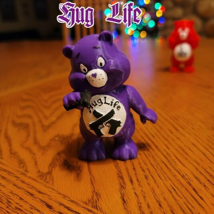 hug life.jpg Télécharger fichier STL Collection No Care Bear • Objet imprimable en 3D, LittleTup