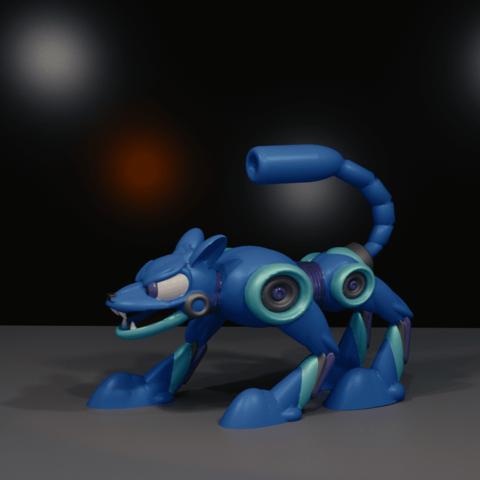dognew.png Download free STL file HOT DOG from MEGAMAN 2 • Design to 3D print, LittleTup