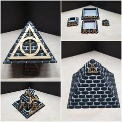 Download free 3D printer designs Harry Potter Pyramid with a Chamber of Secrets, LittleTup