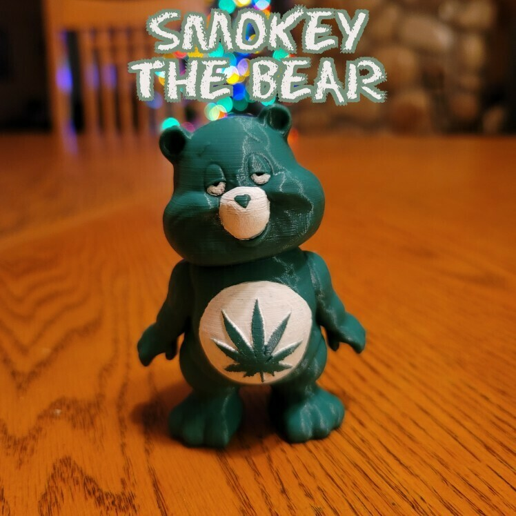 smokey.jpg Download STL file No Care Bear Collection • 3D printable object, LittleTup