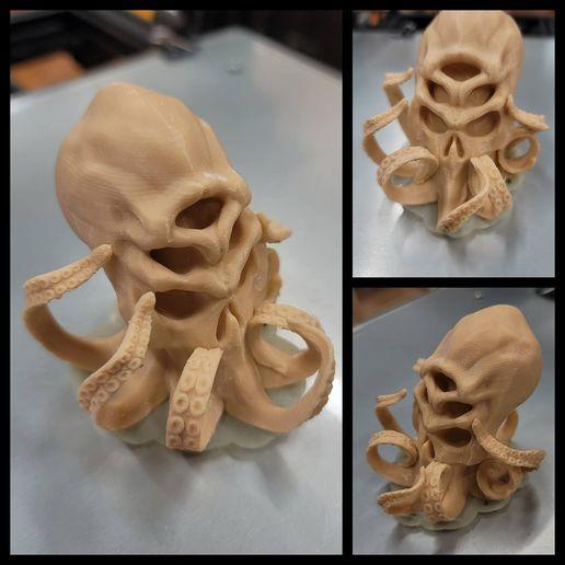 20200909_231057.jpg Download free STL file Cthulhu Skull • 3D printable design, LittleTup