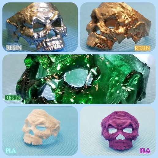 zombieri.jpg Télécharger fichier STL gratuit Anneau de crâne de zombie • Objet pour imprimante 3D, LittleTup