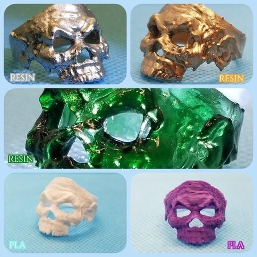 zombieri.jpg Download free STL file Zombie Skull Ring • 3D printer model, LittleTup