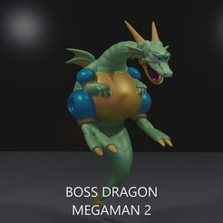 boss_Moment.jpg Download free STL file Boss Dragon from MEGAMAN 2 • 3D printer design, LittleTup