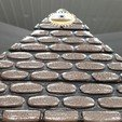 Free STL WORN STONE PYRAMID with SECRET COMPARTMENT, LittleTup