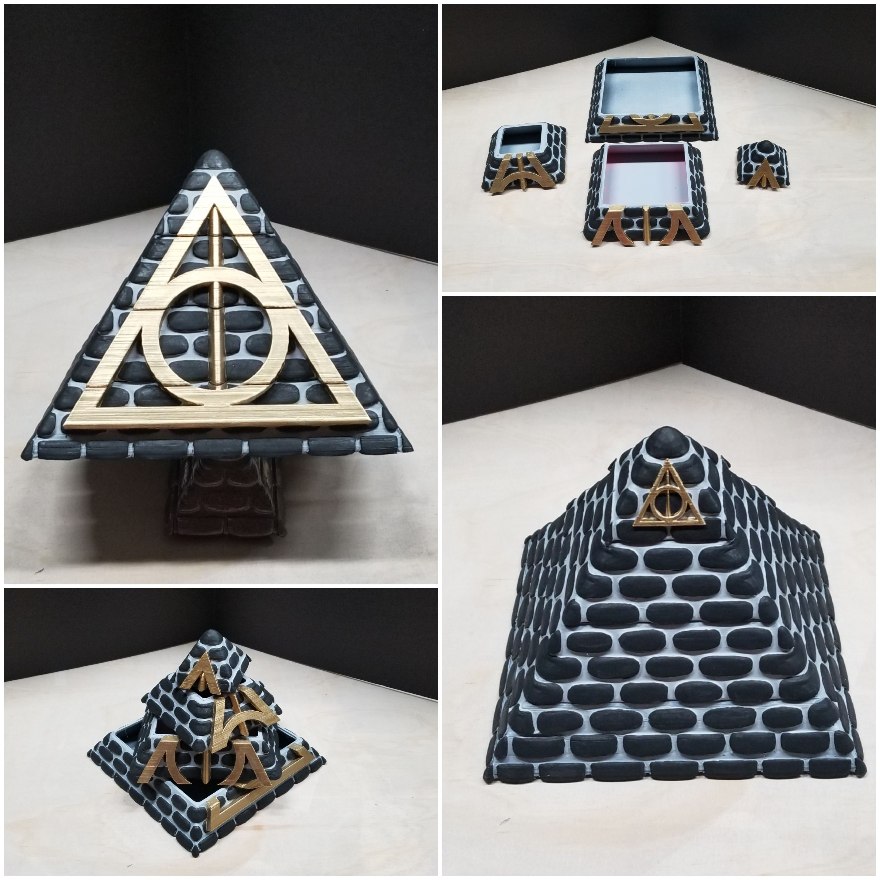 20190529_164326[1].jpg Download free STL file POTTER PYRAMID BOX with a Chamber of secrets • Template to 3D print, LittleTup