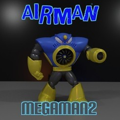 Free 3D printer files AIRMAN from MEGAMAN2, LittleTup