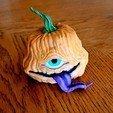 Download free STL file TofuRevolution's One-eyed pumpkin  • 3D printable template, LittleTup