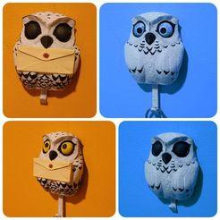 Download STL file Owl - Wall Key Holder • 3D printing model, LittleTup