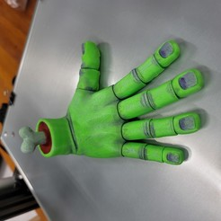 Download STL file Flexi PRINT-IN-PLACE Hand • 3D printing model, LittleTup