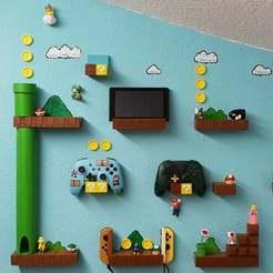Free STL file Super Mario World Nintendo Switch Controller Pro Joy Con Wall Holder, NevaMasquarade