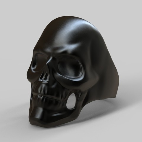 Descargar archivos 3D Dark Skull Ring, MiguelBarragan01