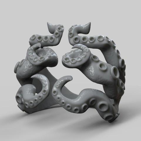 Descargar diseños 3D Octopus Tentacle Ring , MiguelBarragan01