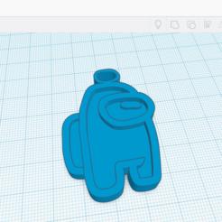 among us bleu.png Télécharger fichier STL Porte Clef Among Us  • Objet imprimable en 3D, benoitcrespo