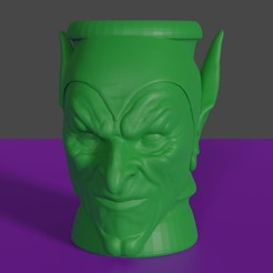 vaso duende verde render1.jpg Download STL file Goblin Green Glass • 3D print template, rodrigo11o11