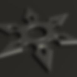 Download STL file STAR NINJA 6 POINTS D 80MM • Object to 3D print, rodrigo11o11