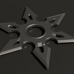 ESTRELLA NINJA6P 80MM RENDER.png Download STL file STAR NINJA 6 POINTS D 80MM • Object to 3D print, rodrigo11o11