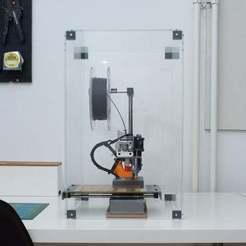 Download free 3D printer designs PrintrBox - a PrintrBot Simple Metal Enclosure, Ghashrod