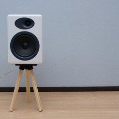 Impresiones 3D gratis Soporte de altavoz de madera simple, Ghashrod
