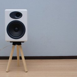 Download free 3D printer designs Simple Wooden Speaker Stand, Ghashrod