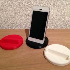foto_display_large.jpg Download free STL file Iphone 5 and 5S stand • 3D printable template, Cerragh