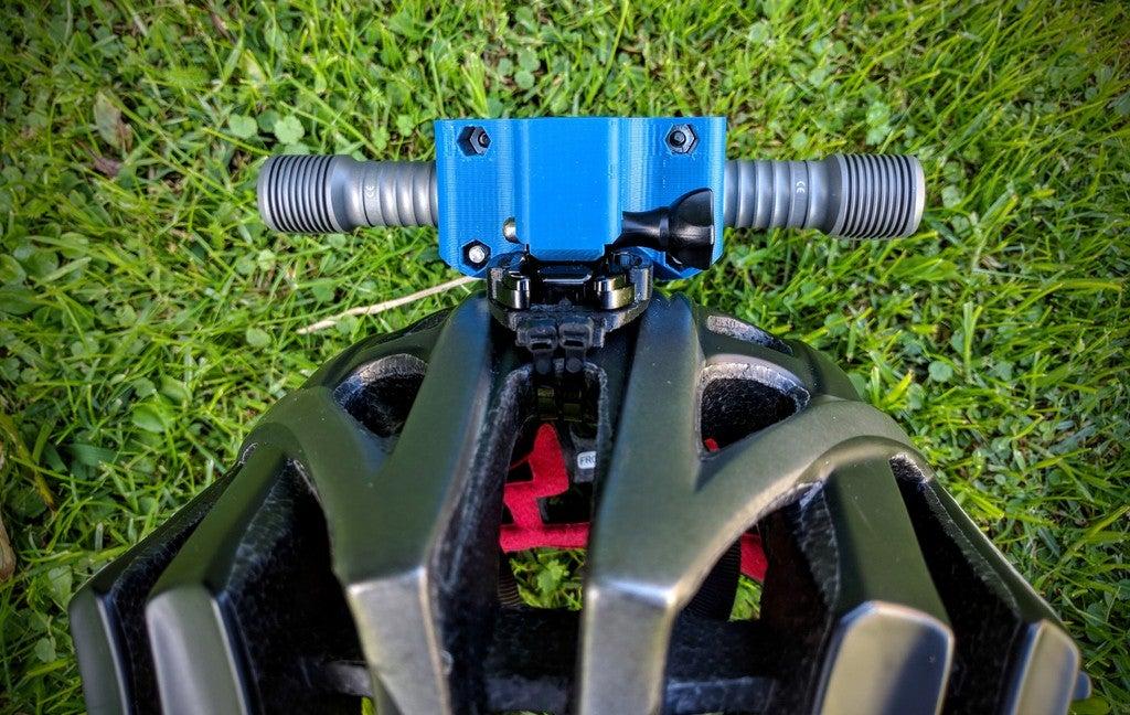 abaaf4bbddedc55c0d77d04c3a794f02_display_large.jpg Download free STL file Zebralight H600w Mk II helmet Gopro mount / bracket • 3D printable model, Cerragh