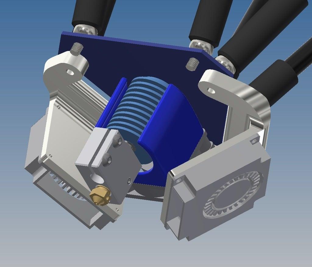 25e1f1b72ed27acf90917f1b83c063f9_display_large.jpg Download free STL file Duet Smart Effector blower Fan brackets (4010 Fans) • Model to 3D print, alkobua