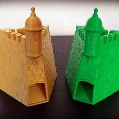 """Descargar Modelos 3D para imprimir gratis Torre de Dados """"La Garita del Castillo San Felipe del Morro"""", Dourgurd"""
